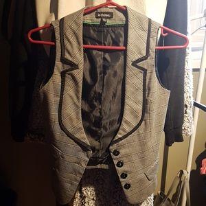 Plaid Buttonup Vest